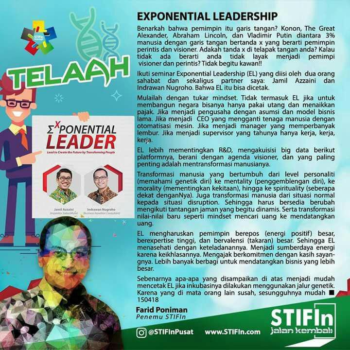TELAAH EXPONENTIAL LEADERSHIP