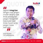 Melatih Integritas dengan Tiga Jangan