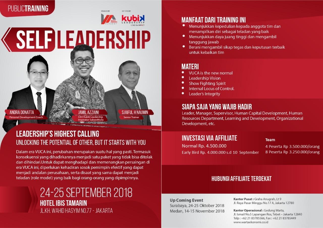 Self Leadership Training from Jamil Azzaini The Greates Leadership Trainer